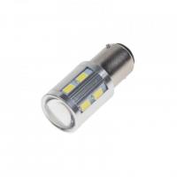 [LED BA15D biela, 12SMD 5630 + 3W Osram 10-30V]