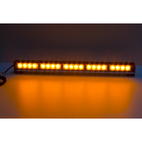 [LED svetelná alej, 20x LED 3W, oranžová 580mm, ECE R10 R65]