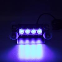 [PREDATOR LED vnútorné, 4x3W, 12-24V, modrý, 146mm, CE]