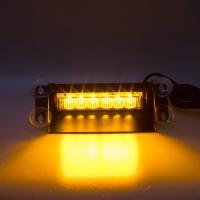 [PREDATOR LED vnútorné, 6x3W, 12-24V, oranžový, 210mm, CE]