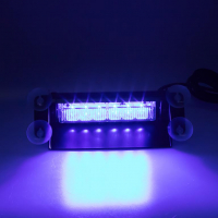 [PREDATOR LED vnútorné, 6x3W, 12-24V, modrý, 210mm, CE]