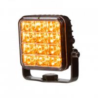 [PREDATOR vonkajšie, 10-30V, 12x2W SMD LED, oranžový, 74x74x38mm, ECE R65]