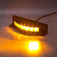 [Výstražné LED svetlo vonkajšie, 12-24V, 6x3W, oranžovej, ECE R65]