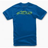 [Detské modré tričko BLAZE TEE Alpinestars krátke 3038-72000 7955]