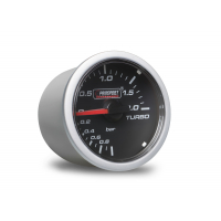 [PROSPORT Clear Lens prídavný ukazovateľ tlaku turba mechanický -1 až 2bar s čírym prekrytím]