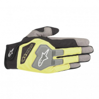[Rukavice Alpinestars ENGINE GLOVES - BLACK YELLOW NEON]