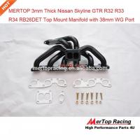 [Kolektor wydechowy Nissan Skyline GTR R32 R33 R34 TopMount Czarna Stal]