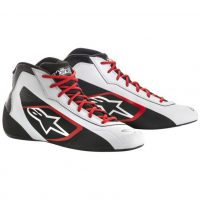 [Topánky Alpinestars  TECH-1 K START SHOES - WHITE BLACK RED]