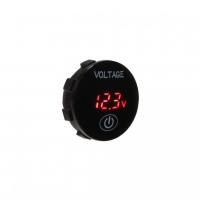 [Digitálny voltmeter 5-36V červený s ukazovateľom stavu batérie]