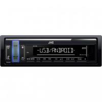 [JVC autorádio bez mechaniky / USB / AUX / voliteľnou farbou podsvietenia tlačidla / odnímateľný panel]