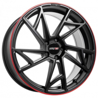 [Motec Supreme MCT13 - Flat Black Rim Red]