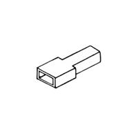 [izolačný kryt objímky 6,3 mm, 100 ks]