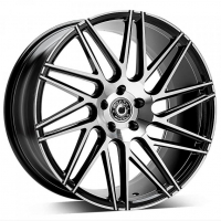 [WRATH ALLOY WHEELS WF-4 - GLOSS BLACK POLISHED FACE]