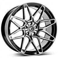 [WRATH ALLOY WHEELS WF-6 - GLOSS BLACK POLISHED FACE]