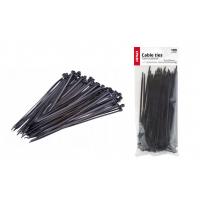 [Stahovací pásky černé 2,5x200mm - 100 ks]