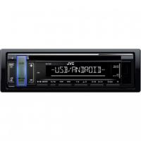 [JVC autorádio s CD / MP3 / USB / AUX / voliteľnou farbou podsvietenia tlačidla / odním.panel]