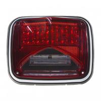 [Výstražné LED svetlo obdĺžnikové s prisvietením, 12 / 24V, červené, R65]