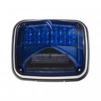 [Výstražné LED svetlo obdĺžnikové s prisvietením, 12 / 24V, modrej, R65]