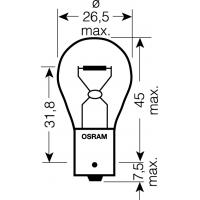 [OSRAM 12V P21W (BA15s) 21W standard (1ks)]