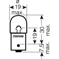 [OSRAM 12V R5W (BA15s) 5W štandard (10ks)]