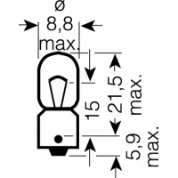 [OSRAM 12V T4W (BA9s) 4W štandard (10ks)]