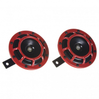 [Diskový klaksón (vysoký a nízky tón), červený, 120mm, 12V]