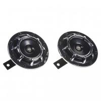 [Diskový klaksón (vysoký a nízky tón), chróm, 120mm, 12V]