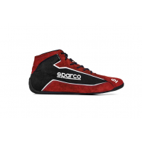 [Topánky SPARCO SLALOM+ (FABRIC AND SUEDE) Red/Black]