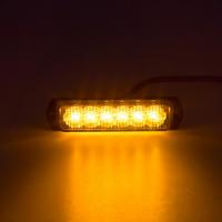 [SLIM výstražné LED svetlo vonkajšie, oranžovej, 12-24V, ECE R65]