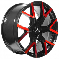 [BARRACUDA TZUNAMEE EVO - BLACK GLOSS FLASHRED]