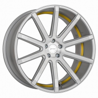 [CORSPEED DEVILLE - SILVER-BRUSHED-SURFACE/ UNDERCUT COLOR TRIM GELB]