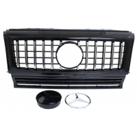 [GRILL MERCEDES BENZ W463 G63 LOOK SHINY BLACK (90-18)]