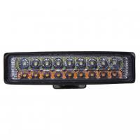 [LED svetlo obdĺžnikové, biela + oranžová, 18x3W, ECE R10]