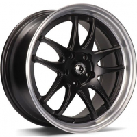 [79WHEELS SV-I - MATT BLACK POLISHED LIP]