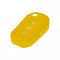 [Silikónový obal pre kľúč Peugeot, Citroën, 3-tlačidlový, žltý]