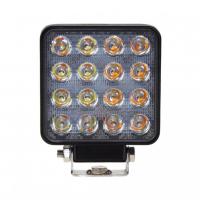 [LED svetlo štvorcové biele / oranžové, 16x3W, 110x110mm, ECE R10]