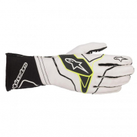 [Rukavice Alpinestars TECH-1 KX V2 GLOVE - White/Black]
