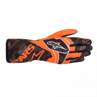 [Rukavice Alpinestars TECH-1 K RACE V2 CAMO GLOVE - Orange Fluorescent/Black]