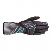 [Rukavice Alpinestars TECH-1 K RACE V2 CARBON GLOVE - Black/Turquoise]