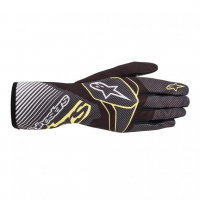 [Rukavice Alpinestars TECH-1 K RACE V2 CARBON GLOVE - Black/Green Lime]