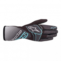 [Rukavice Alpinestars TECH-1 K RACE S. V2 CARBON GLOVE - Black/Turquoise]