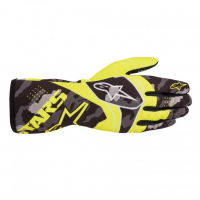 [Rukavice Alpinestars TECH-1 K RACE S. V2 CAMO GLOVE - Yellow Fluorescent/Black]