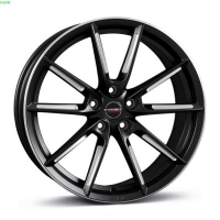 [Borbet LX black matt spoke rim polished]