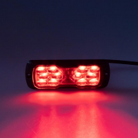 [PROFI LED výstražné svetlo 12-24V 11,5W červené ECE R65 114x44mm]