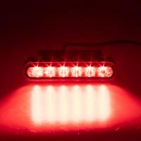 [PROFI výstražné LED svetlo vonkajšie, červené, 12-24V]