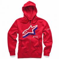 [Pánska červena mikina HALOGEN ZIP HOODIE Alpinestars 1036-53012 308]