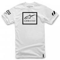 [Panské biele tričko GRANDE TEE Alpinestars krátke 1036-72011 20]