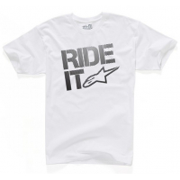 [Panské biele tričko RIDE IT TEE Alpinestars krátke 1032-72044 20]