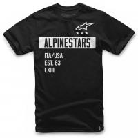 [Panské čierne tričko VALIANT TEE Alpinestars krátke 1036-72002 10]