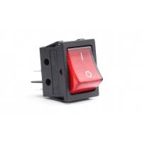 [Obdélníkový spínač 12V / 230V (s červeným světlem) BU02]